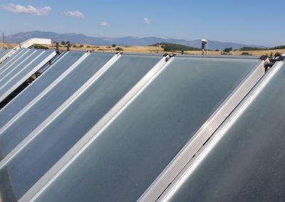 Yφιστάμενη κατάσταση των ανενεργών ηλιακών συλλεκτών (Μποδοσάκειο)