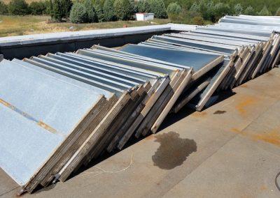 Αποξήλωση ανενεργών ηλιακών συλλεκτών (Μποδοσάκειο)